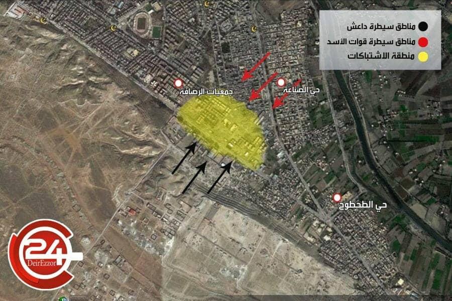 Photo of داعش تنتزع مناطق من سيطرة قوات الأسد في حي الصناعة وعشرات القتلى في صفوف الطرفين.