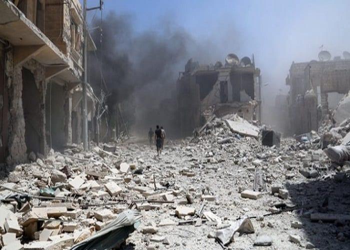 Photo of مجزرة مروعة يرتكبها طيران التحالف الدولي بحق المدنيين في مدينة البوكمال وعشرات الشهداء من المدنيين