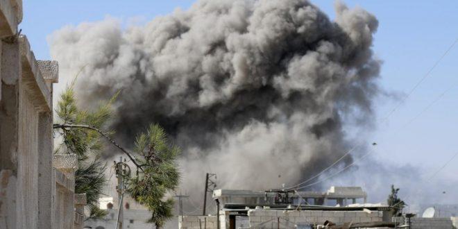 Photo of شهداء وجرحى بقصف الطيران الحربي لمدينة البوكمال