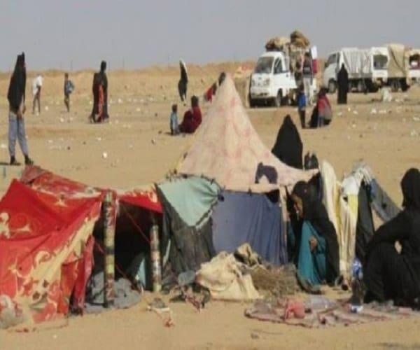 Photo of مجزرة بقصف جوي على مخيم للنازحين في بلدة السكرية