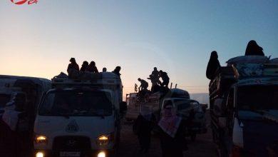 Photo of بالصور.. خروج دفعة من العائلات الديرية المحتجزة في مخيم الهول